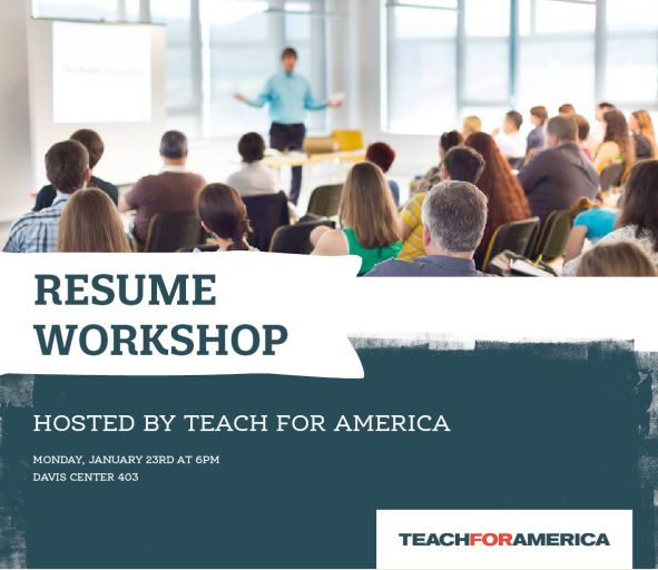 Teach For America Resume Writing Workshop - UVM Bored