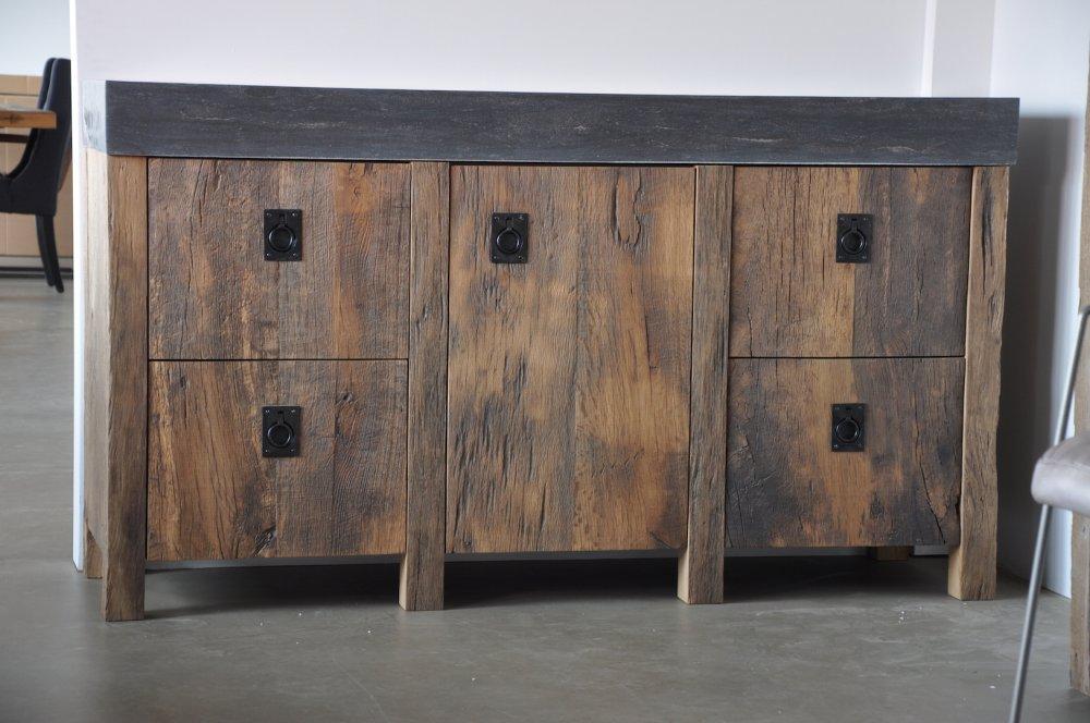 Badkamerkast Oud Hout : Badkamermeubel oud hout meubels in de badkamer restyle xl