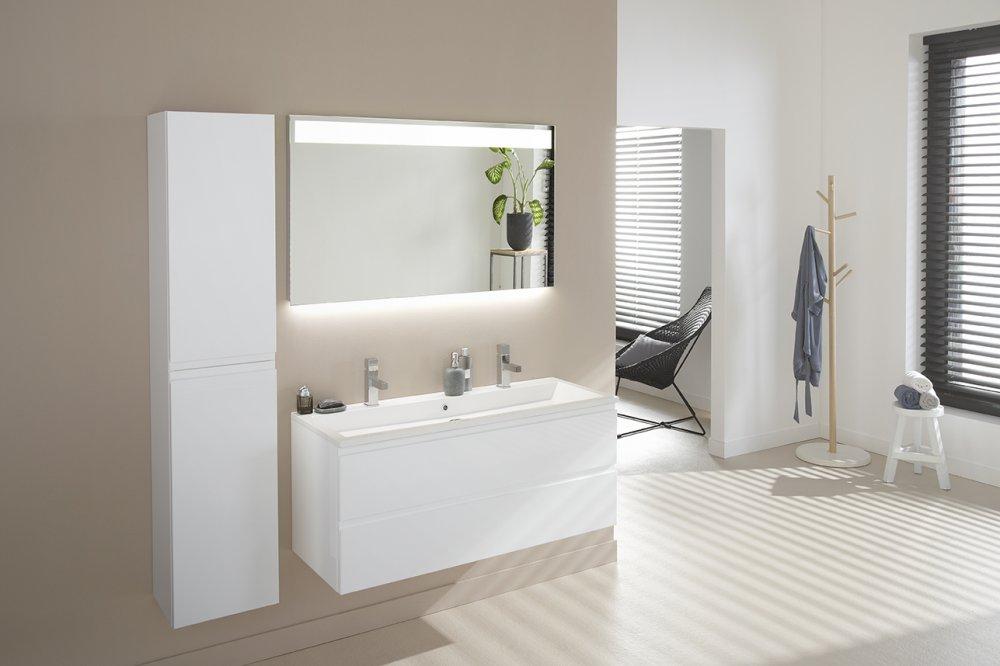 Badkamermeubel mat wit ink badkamermeubelen 45 faktor