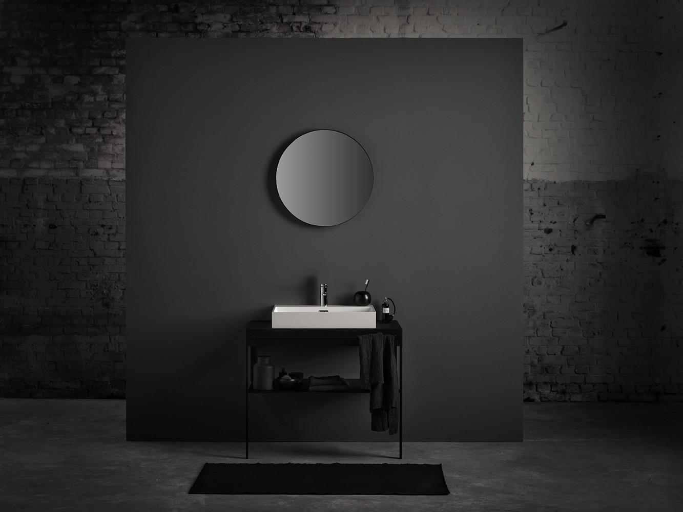 Spiegel Zwart Staal : Badkamer spiegel rond zwart zwarte ronde spiegel gallery of latest