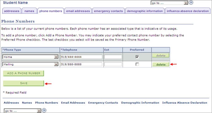 How do I view my phone number? Quest - Student Information System
