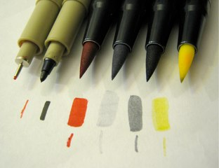 Markers used for adding emphasis.