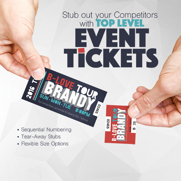 Custom Event Tickets Printing - Stub out the Competitors