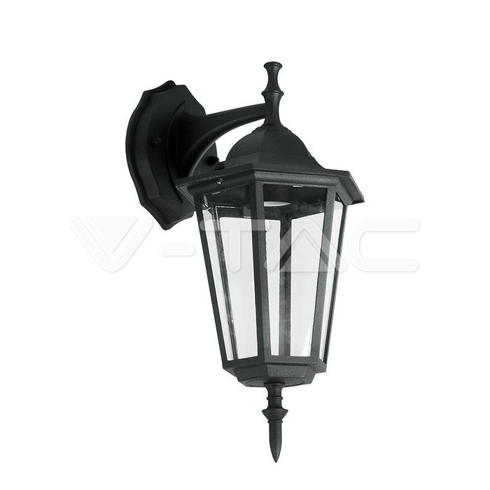 Led Garden Lamps Garden Wall Lamp E27 Matt Black Down