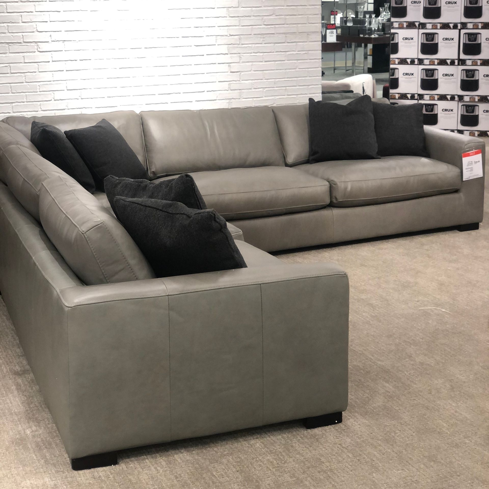 Leather 3 Piece Sectional Macys Style Crew