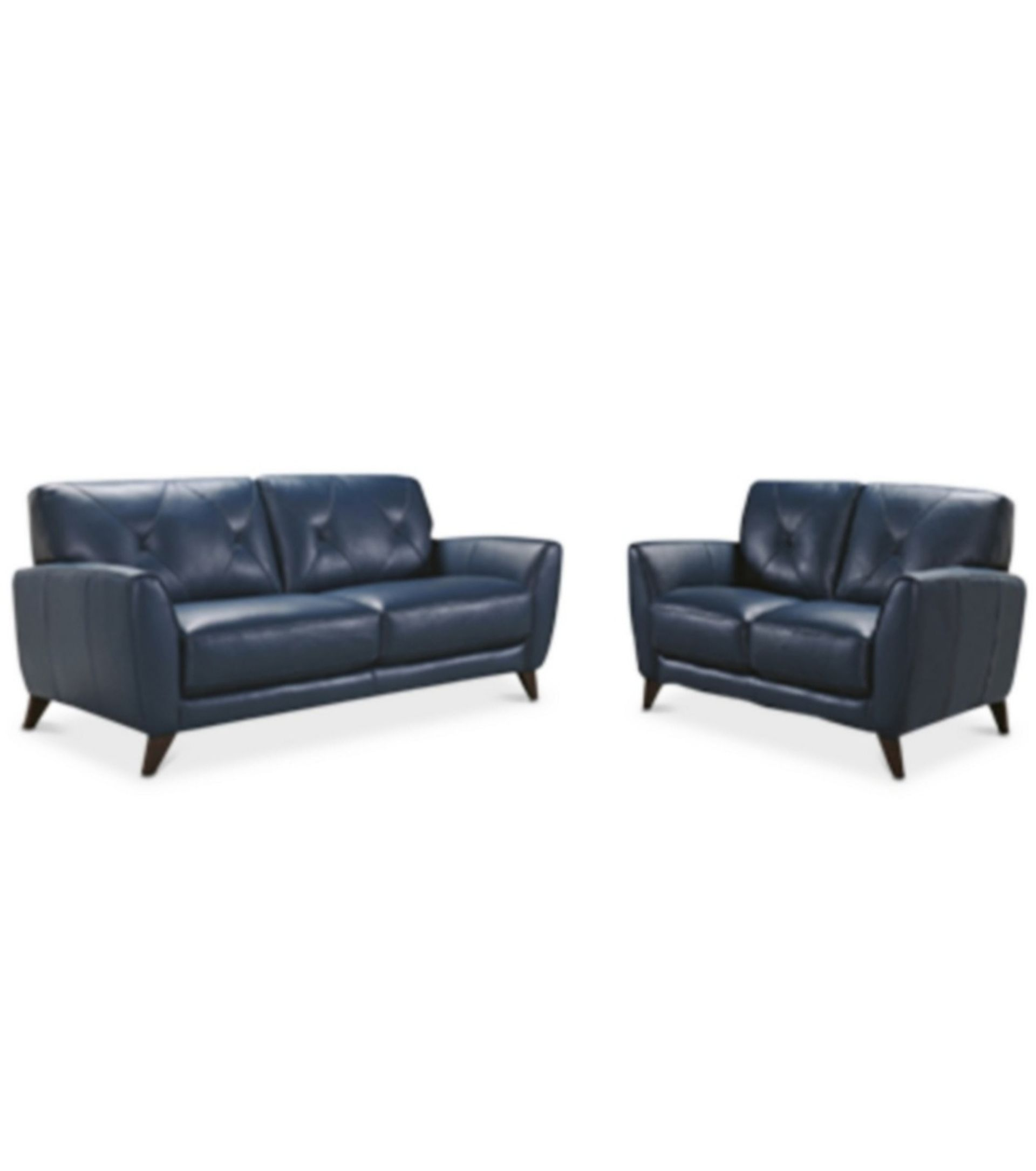 Blue Leather Sofa Macys Style Crew