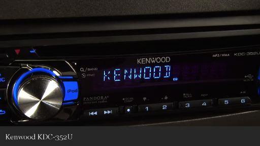 Kenwood KDC-352U CD receiver at Crutchfield
