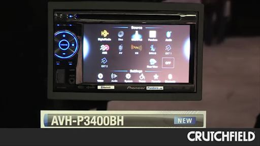 Pioneer AVH-P3400BH DVD receiver at Crutchfield