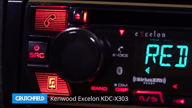 Kenwood Excelon KDC-X303 CD receiver at Crutchfield