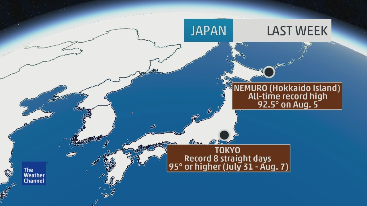 Japanese Heat Wave Continues Ninety People Have Died