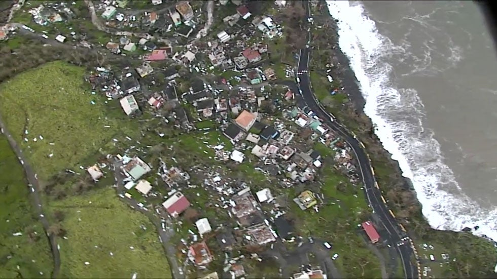 weather channel hurricane central hurricane maria damage images