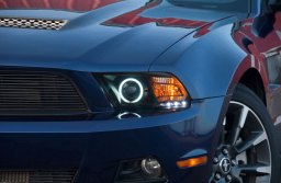 DS Close Up with Raxiom Black Projector Headlights