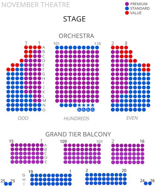 Virginia Rep November Theatre Seating Chart 2017/18 - seating chart