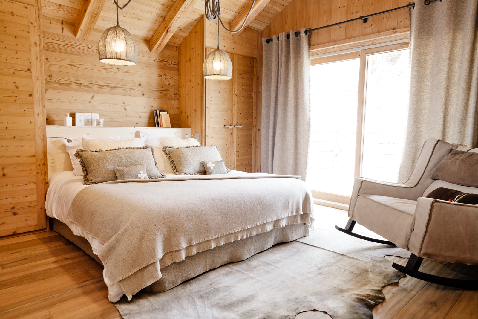 Chambre Style Location Chalet Luxe Serre Chevalier Pied Des Pistes