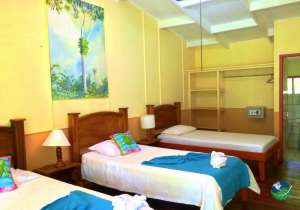 Caribbean Paradise Eco Lodge Three Bed Bedroom