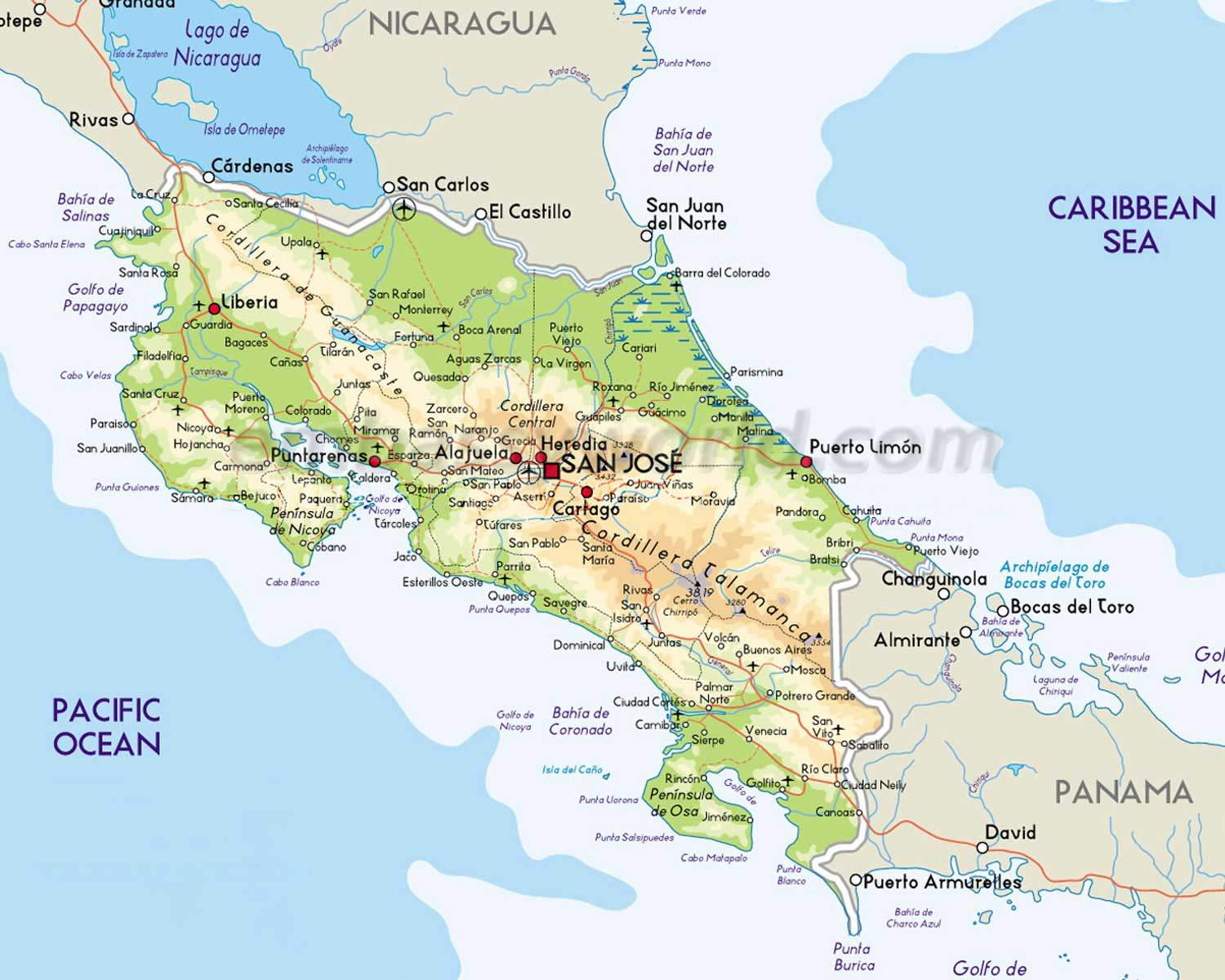 Map of Costa Rica Every map you need to plan your trip to Costa Rica
