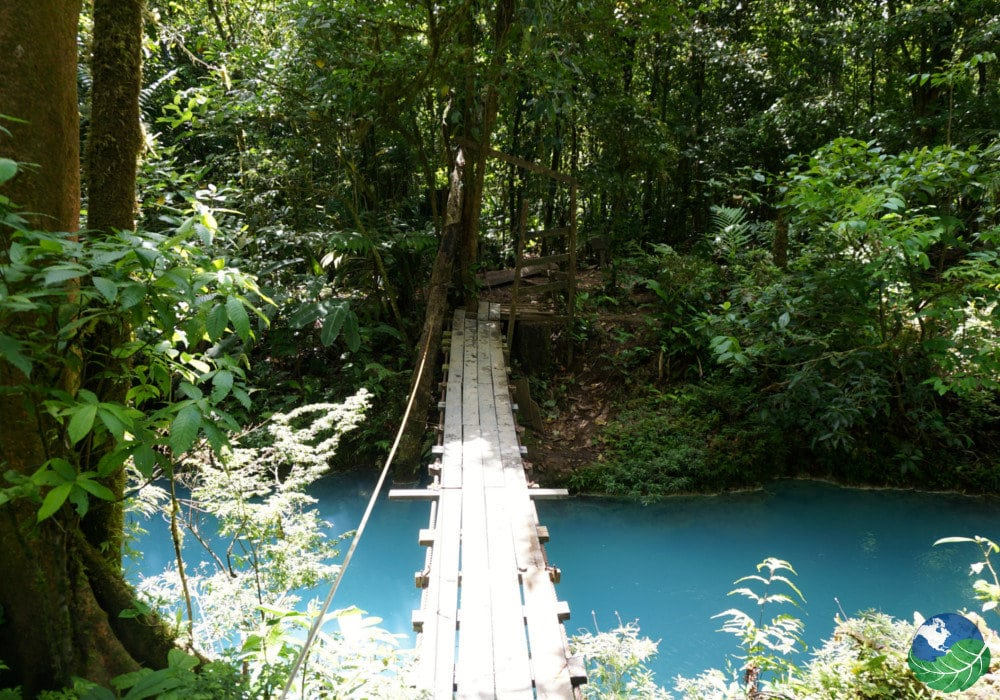 Rio Celeste Costa Rica Walking Bridge