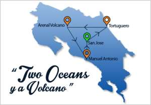 Two Oceans & A Volcano Map