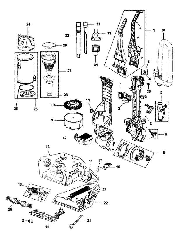 electrolux wiring diagram on vacuum