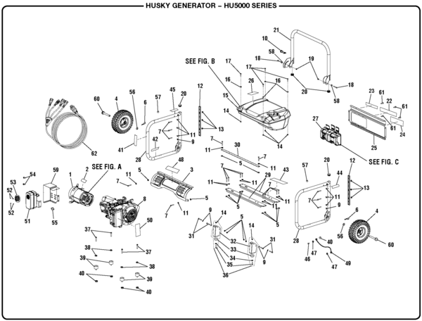 general 5000 generator wiring diagram