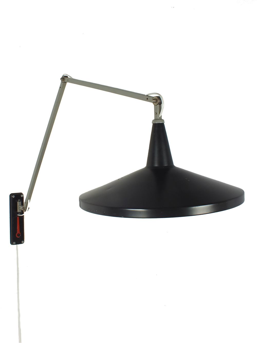 Rietveld Wandlamp Panama Wall Light Model 4050 Wim Rietveld Gispen