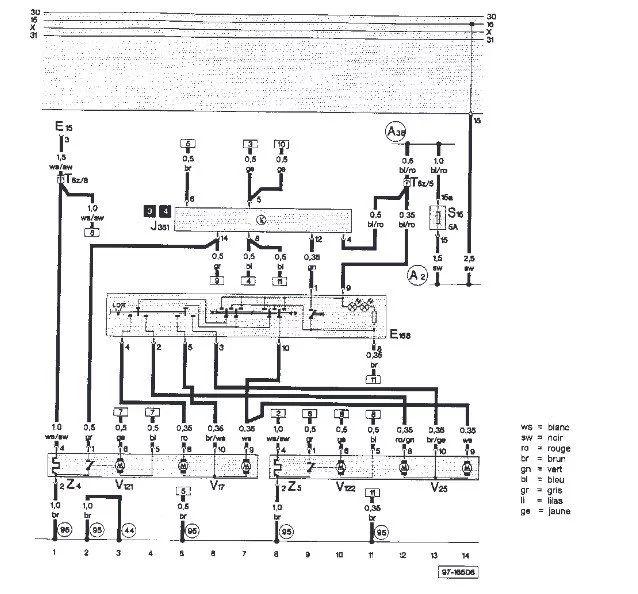 1999 jetta schema cablage