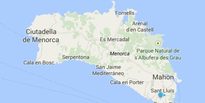 Menorca Spain map