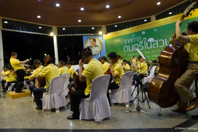 Symphony orchestra in Lumphini Park