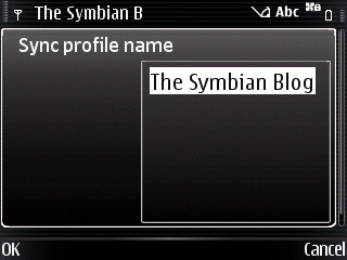 Sync profile name
