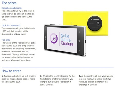 Dreaming Up Imaging Apps & Hacks Can Win You A Lumia 1020 & A Trip To Sweden