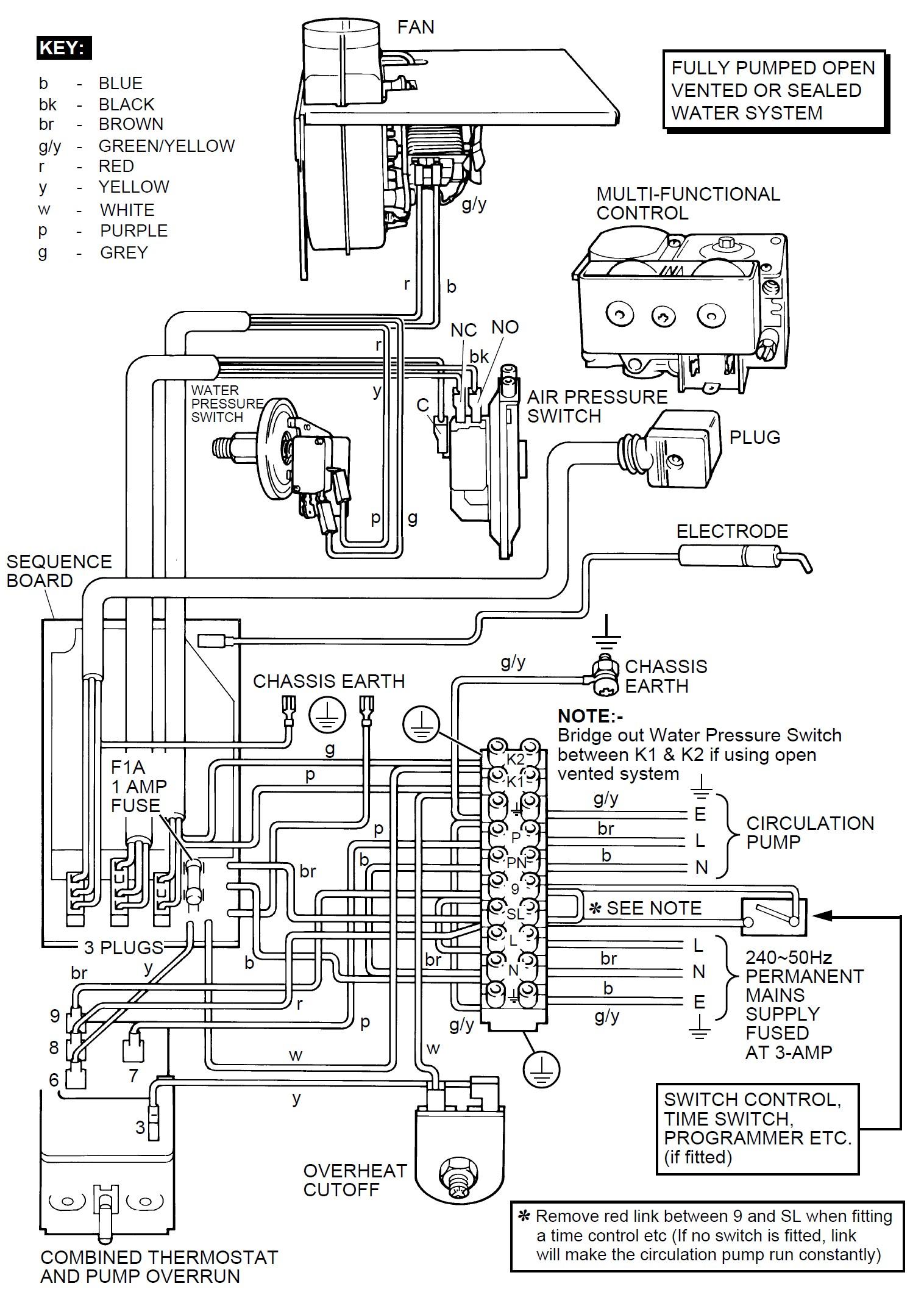 vaillant pump overrun wiring