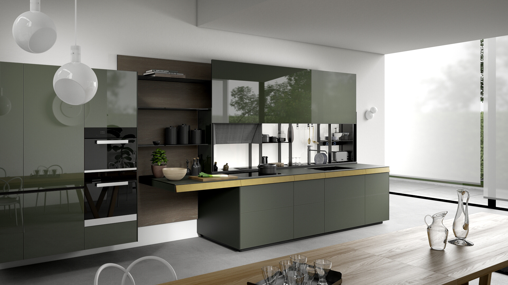 La Cucina Alessi Kitchens Valcucine Modern And Fitted Designer Italian Kitchens