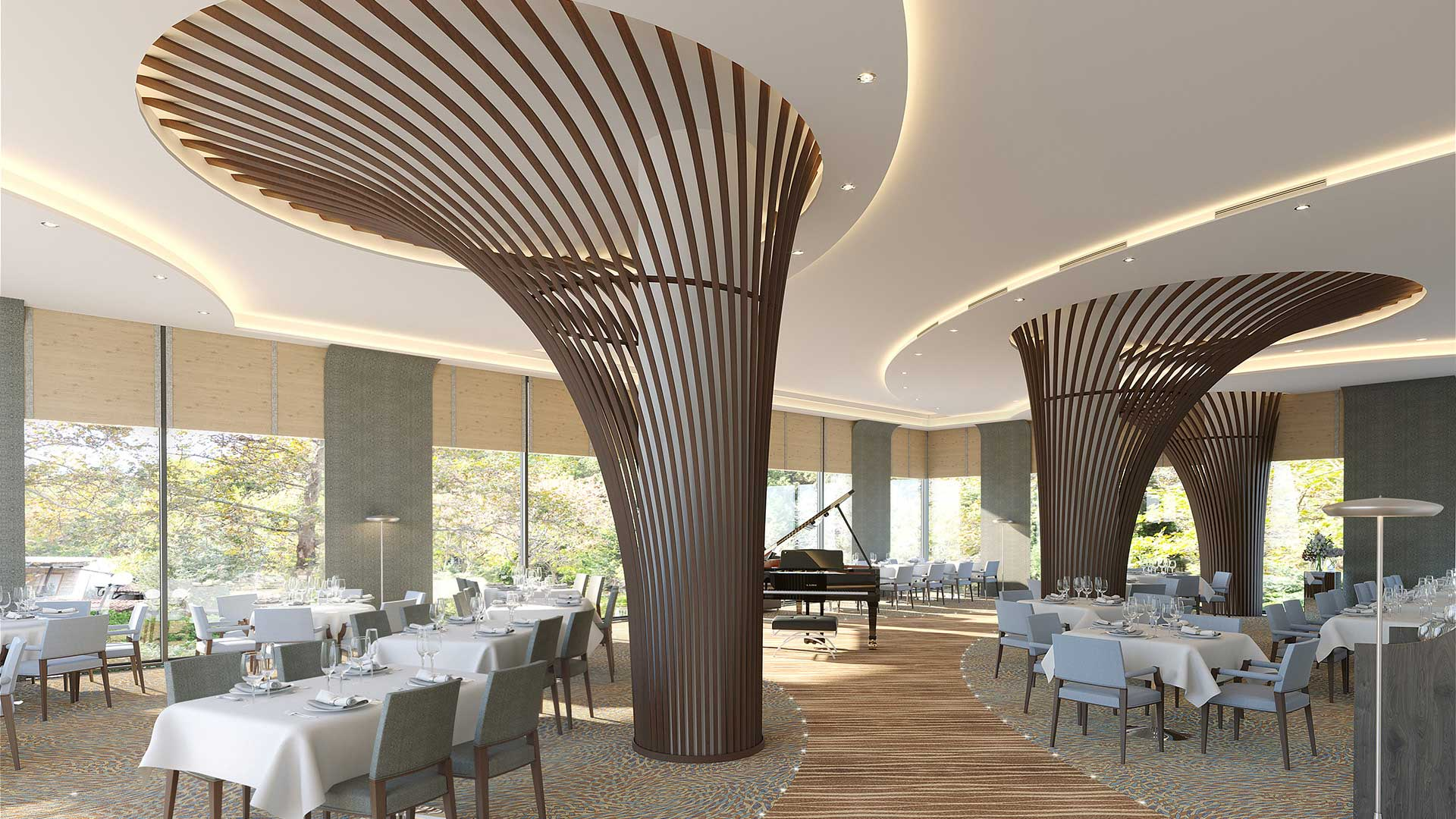 Design Interieur Architecture 3d Perspective Interior Architecture 3d Restaurant