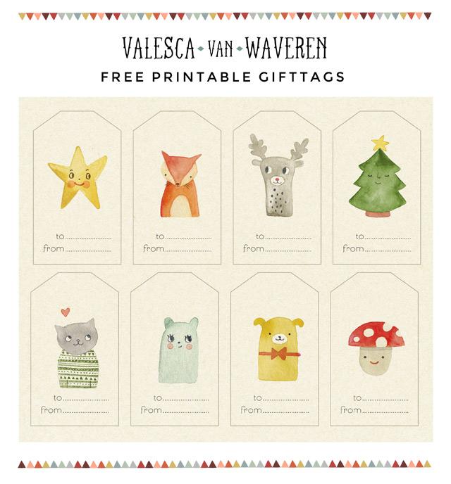 FREE PRINTABLE GIFT TAGS Valesca van Waveren Art + Illustration