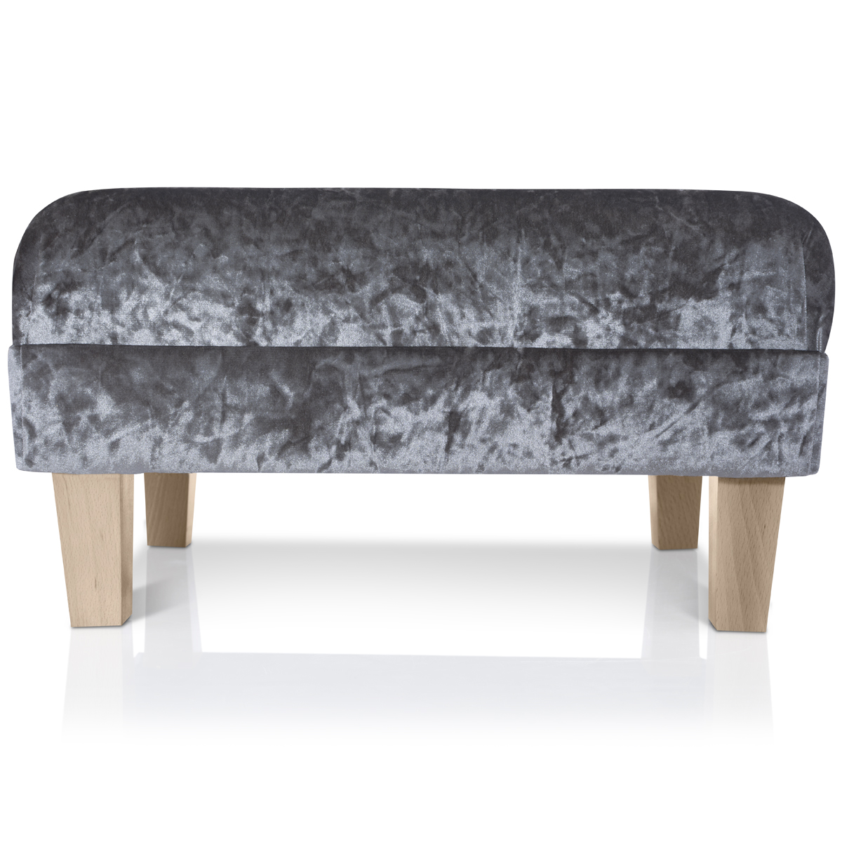 Klein Voetenbankje New Footstool Ottoman Crushed Velvet Foot Rest Small