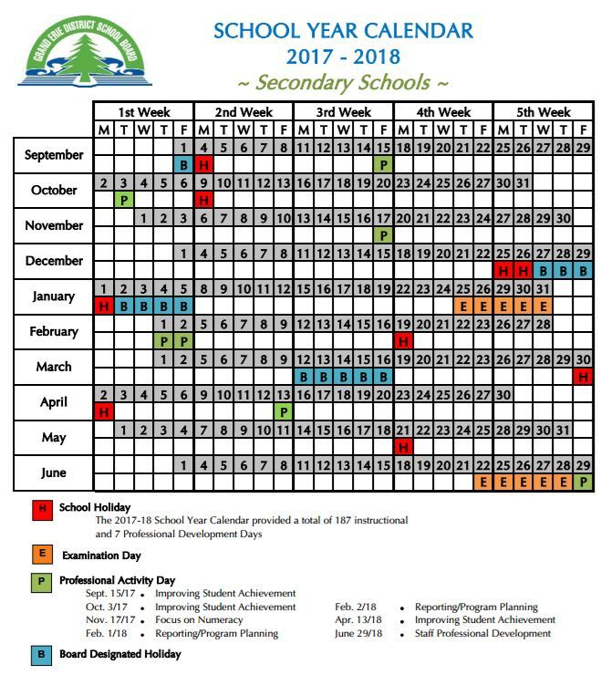Calendar Valley Heights Secondary School