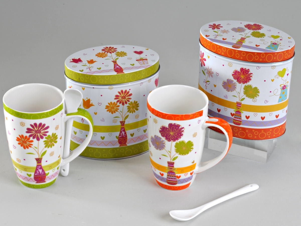 Tasse Blumen Formano Tasse Becher Bone China Blumen 288929