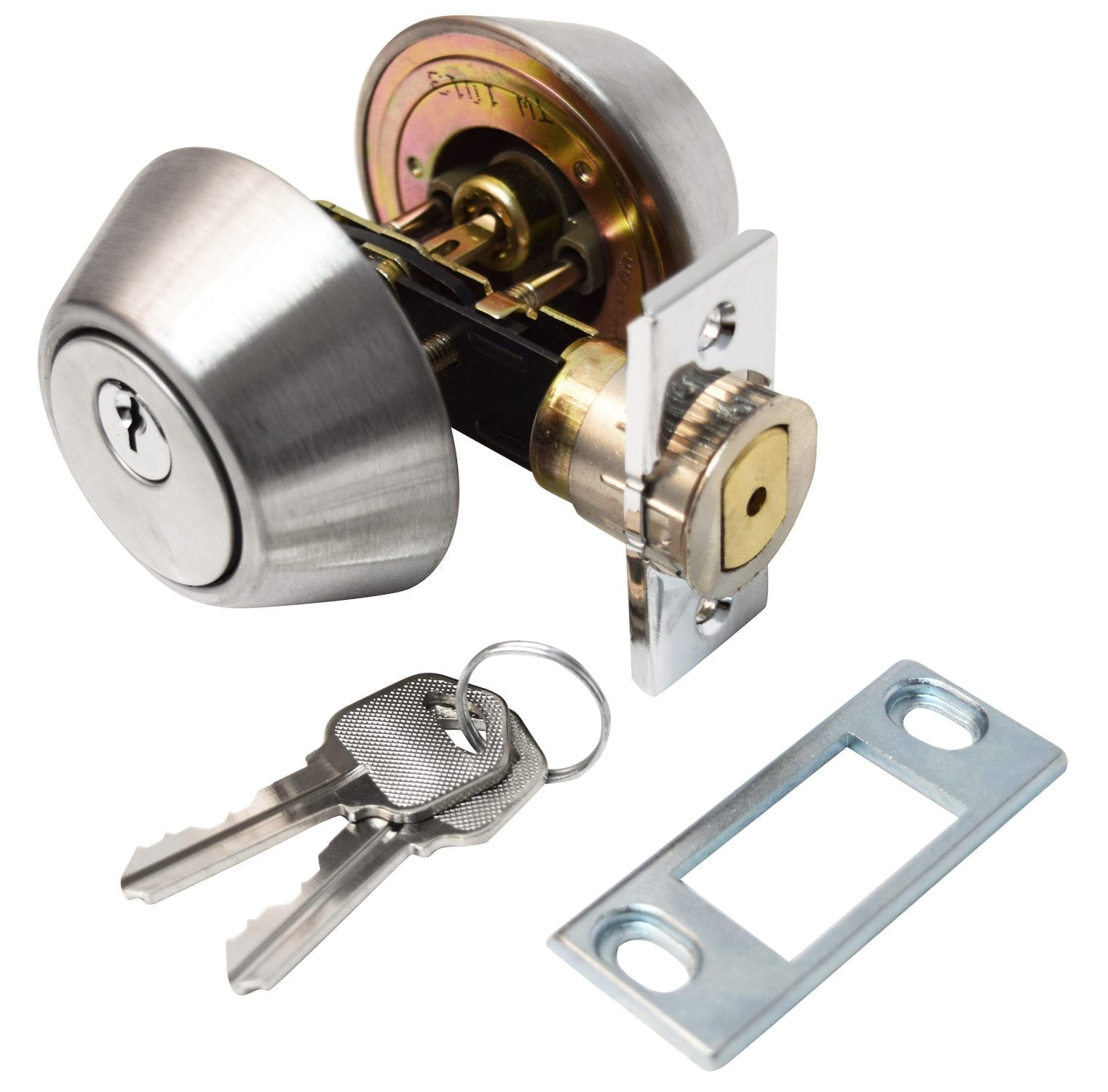 Rvs Cilinder Deadbolt Double Cylinder 5 8 Quot Throw Stainless Steel