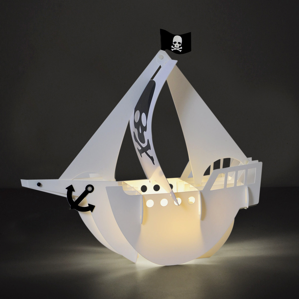 Boys Lights Boys Kids Bedroom Battery Led Pirate Ship Boat Table Lamp