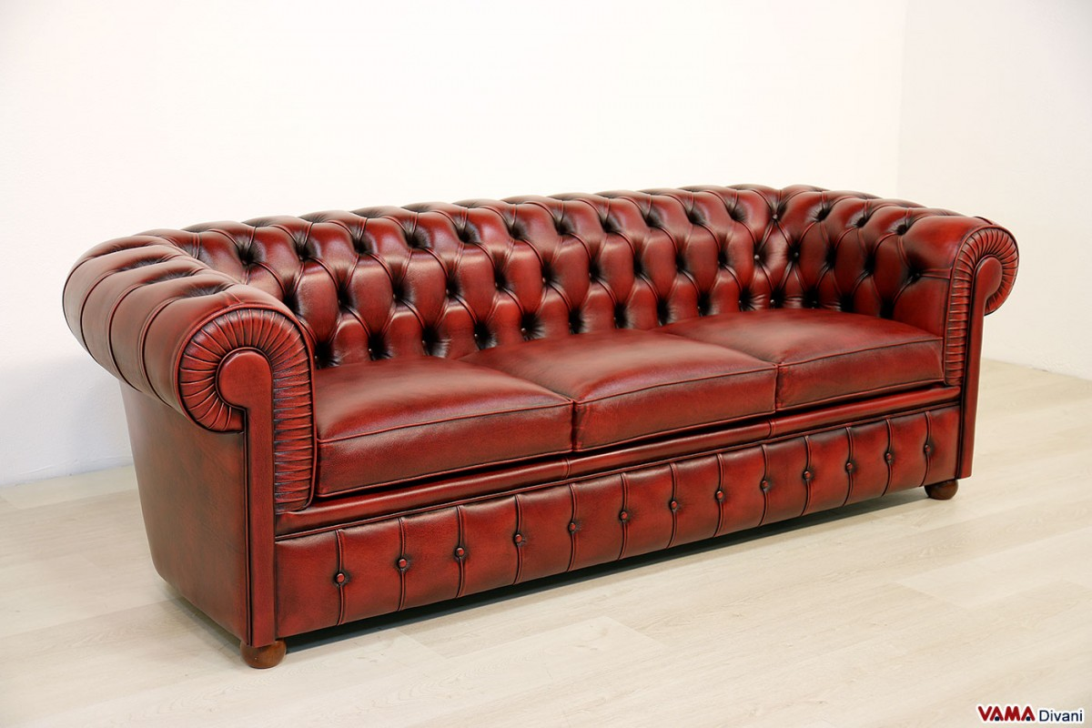 Divani Leather Sofa For Sale Chesterfield Sofa Red Home Sofa