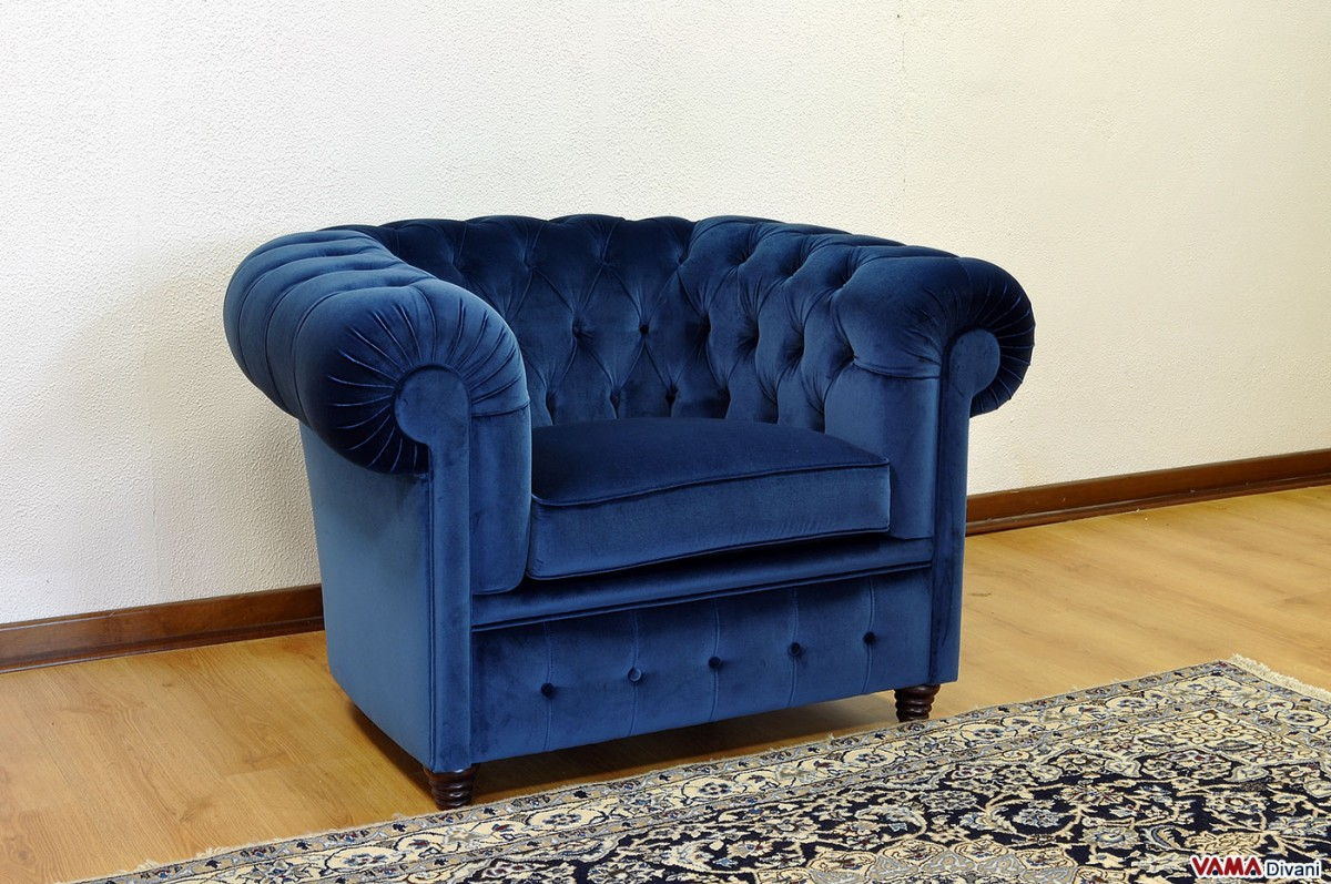 Divano Color Jeans Chesterfield Armchair Price Size And Upholstery