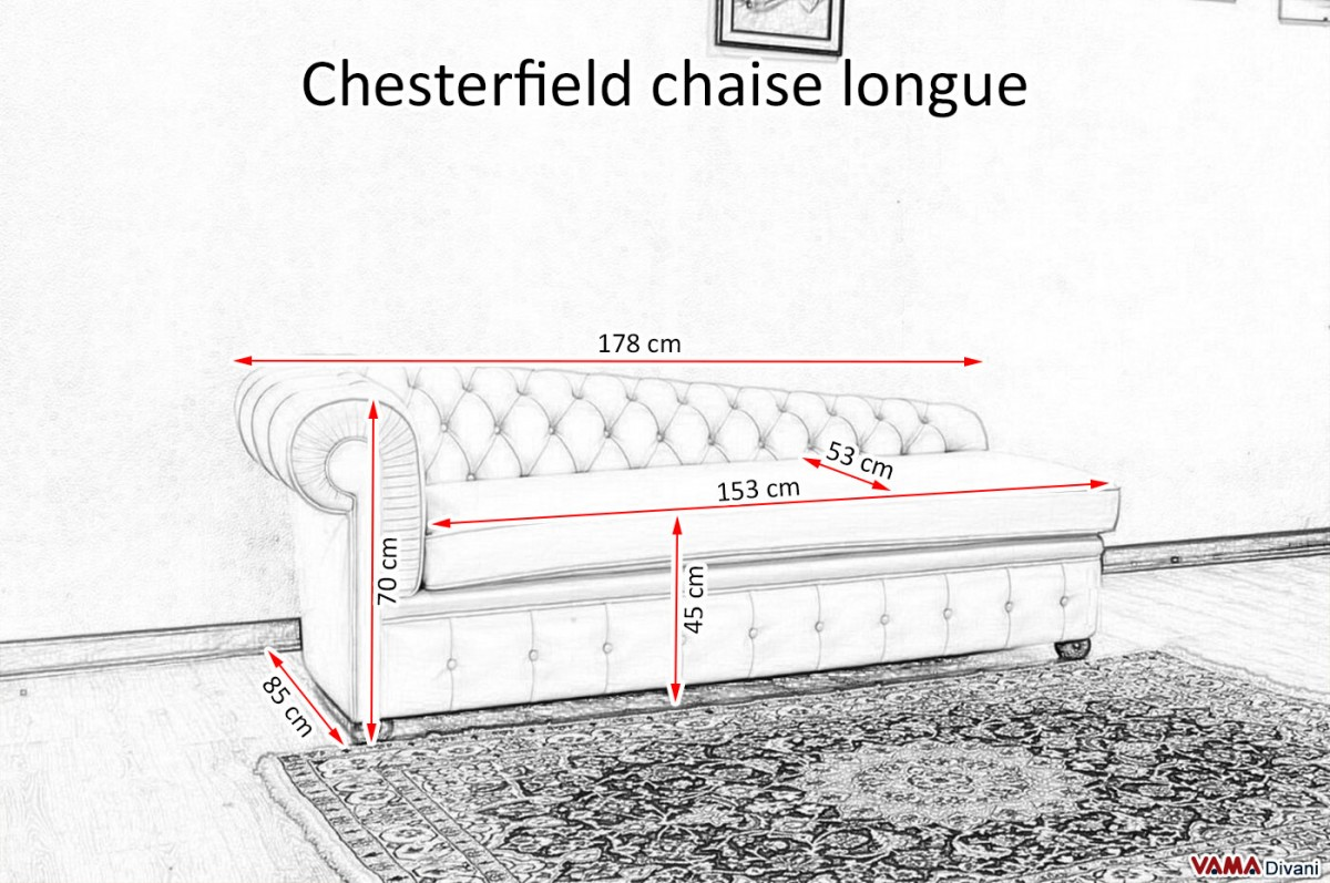 Dimension Chaise Longue Chesterfield Leather Chaise Longue Price And Sizes