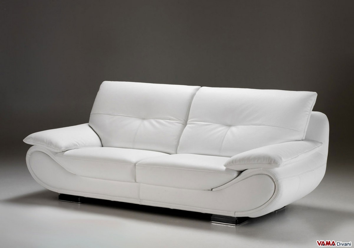 Sofas Leder Contemporary White Leather Sofa | Price And Dimensions