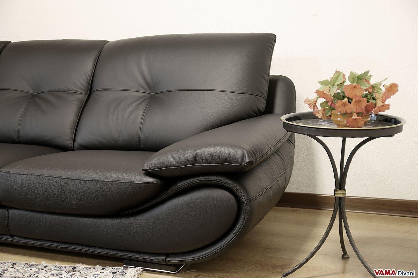 Divano Nero Moderno : Divano nero pelle divano in pelle 2 o 3 posti daniel