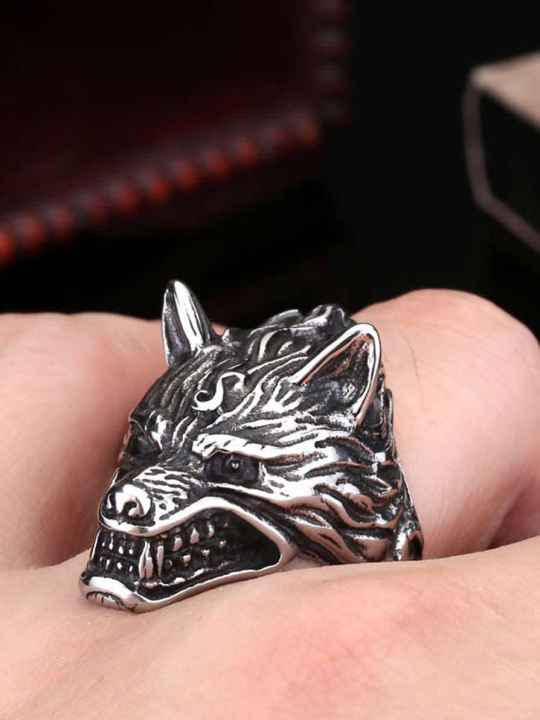 Vamers Store - Jewellery - Game of Thrones - Stainless Steel House Stark of Winterfell Dire Wolf Ring - On Hand