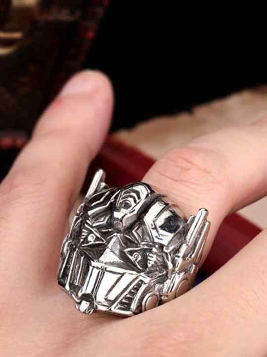 Vamers Store - Jewellery - Transformers - Stainless Steel Optimus Prime Ring - One Hand