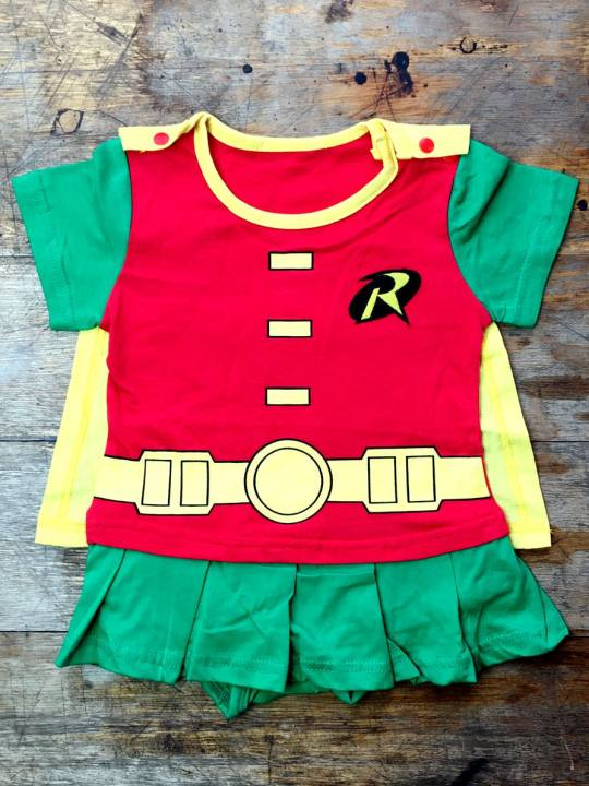 Vamers Store - Apparel - Baby Clothing - Robin Suit with Cape Baby Grow Romper - 01