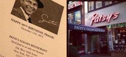 Restaurante Patsy, o preferido de Frank Sinatra