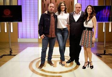 Paola Carosella , Herinque Fogaça, Erick Jacquin e Ana Paula Padrão