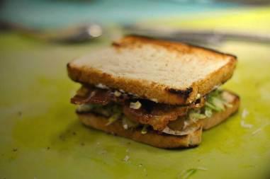 Montagem do sanduíche